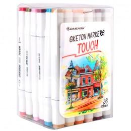 Маркеры для скетчинга двусторонние. Набор 36 цветов артикул. DV-12963-36