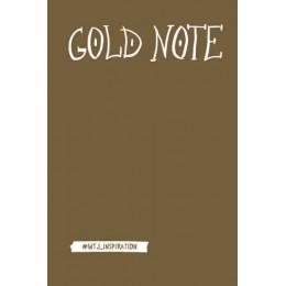 Gold Note. Креативный блокнот с золотыми страницами
