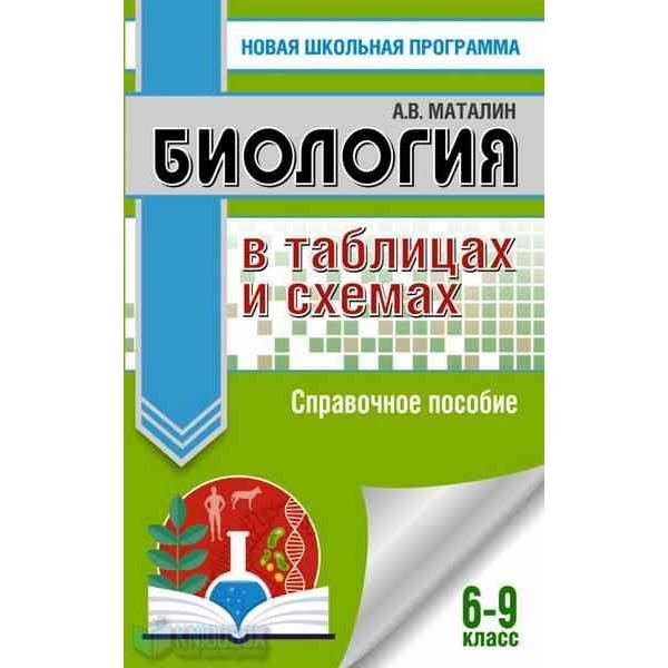 Биология в таблицах и схемах. Справочное пособие. 6-9 кл.