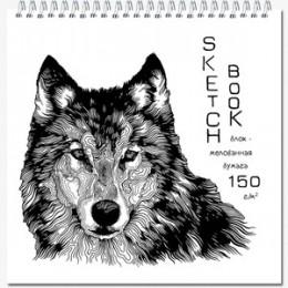 """SketchBook(Полином) Блокнот д/зарисовок """"Artbook quadro big silk"""" [40л.;190х190;мет.гребень;бумага мелованная матовая 150гр/м2] (2834/1175258)"""