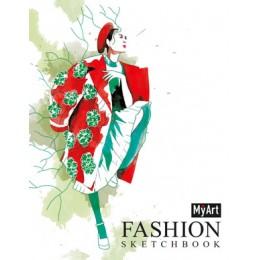 SketchBook(ПрофПр) MyArt Fashion Дама в красном пальто (на спирали) [4680088406282]