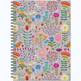 "SketchBook(Полином) Блокнот д/зарисовок ""Floral meadows"" [60л.;145х200;мет.гребень;офсет 100гр/м2] (3030)"