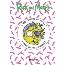RickAndMorty(Эксмо) Блокнот Морти (А5;72л.;контентный блок;с накл.) [978-5-04-116968-8]