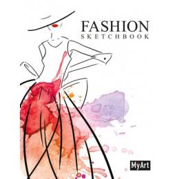 SketchBook(ПрофПр) MyArt Fashion Дама в шляпе акварель (на спирали) [4680088406275]