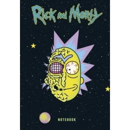 RickAndMorty(Эксмо) Блокнот Рик в космосе (А5;72л.;контентный блок;с накл.) [978-5-04-116966-4]