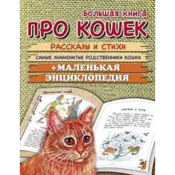 Большая книга про кошек. Рассказы и стихи. Самые знаменитые родственники кошек+маленькая энц.