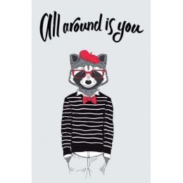 All around is you. Дизайнерский блокнот для рисунков и записей