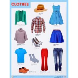 Clothes = Одежда. Плакат