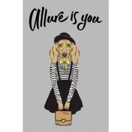 Allure is you. Дизайнерский блокнот для рисунков и записей