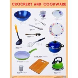 Crockery and Cookware = Посуда. Плакат