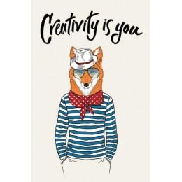 Creativity is you. Дизайнерский блокнот для рисунков и записей
