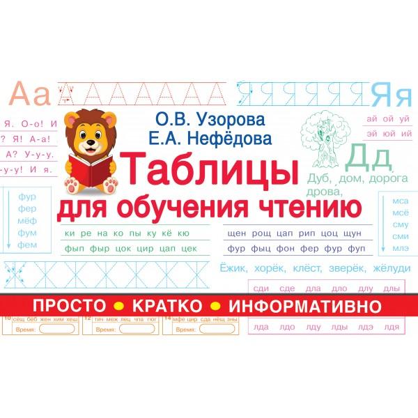 Таблицы для обучения чтению
