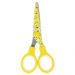 Ножницы BRAUBERG Kid Series, 130 мм, с цветной печатью Смайлики, жёлто-белые, 232274
