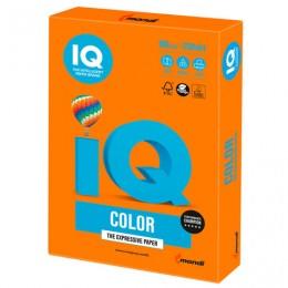 Бумага IQ color, А4, 160 г/м2, 250 л., интенсив, оранжевая, OR43