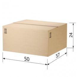 Гофроящик, длина 500 х ширина 370 х высота 240 мм, марка Т22, профиль В, FEFCO 0202 / ГОСТ, исполнение Б, 503210