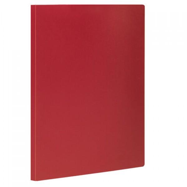Папка с боковым металлическим прижимом STAFF, красная, до 100 листов, 0,5 мм, 229234