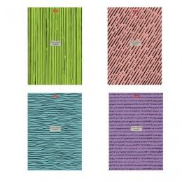 Тетрадь А4 96л. HATBER гребень, клетка, обложка картон, Simple design (4 вида), 96Т4В1гр