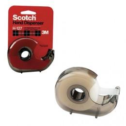 Диспенсер для клейкой ленты SCOTCH, для лент шириной до 19 мм и длиной до 33 м, дымчатый, H-127