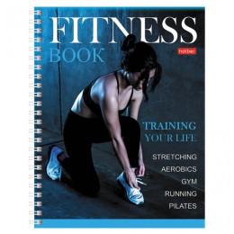 Дневник для фитнеса А5 96л., гребень, глянцевая ламинация, HATBER, Training your life, 96ФДс5лВ5гр