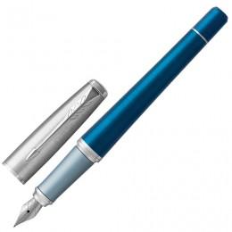 Ручка перьевая PARKER Urban Premium Dark Blue CT, корпус темно-синий, хромированные детали, синяя, 1931563