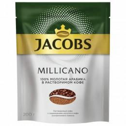 Кофе молотый в растворимом JACOBS Millicano, сублимированный, 200г, мягкая упаковка, ш/к 79599, 8052484
