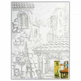 Холст на картоне с контуром BRAUBERG ART CLASSIC, Города, 30х40 см, грунтованный, 100% хлопок, 190630