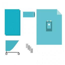 Комплект белья одноразовый хирургический для операций на конечностях КБО-7.1 ГЕКСА стерильный, 5 предметов
