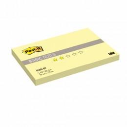 Блок самоклеящийся (стикер) POST-IT Basic, 76х127 мм, 100 л., желтый, 655R-BY