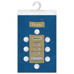Скатерть бумажная ламинированная ASTER Creative, 120х200, синяя, эффект шелка, Бельгия, 79156