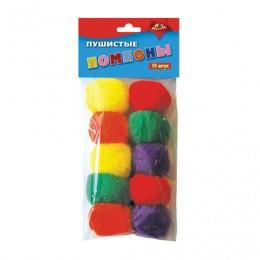 Материалы для творчества АППЛИКА Пушистые помпоны, 5 цветов, диаметр 40 мм, 10 шт., С2578-01
