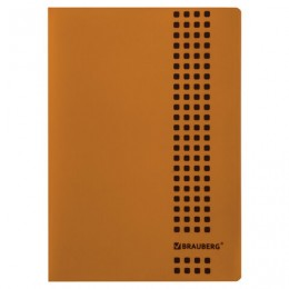 Тетрадь А4, 40 листов, BRAUBERG Metropolis, скоба, клетка, обложка пластик, ОРАНЖЕВЫЙ, 403404