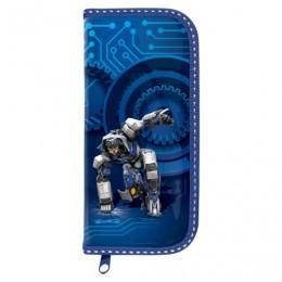 Пенал BRAUBERG, 1 отделение, ламинированный картон, 19х9 см, Робот, 103710