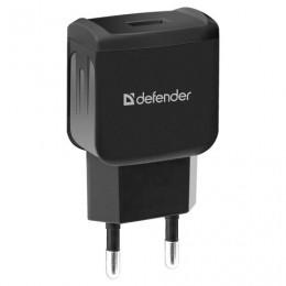 Зарядное устройство сетевое (220 В) DEFENDER EPA-02, 1 порт USB, выходной ток 1 А, черное, 83838