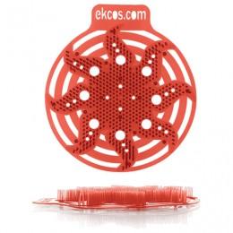 Коврики-вставки для писсуара, ЭКОС (POWER-SCREEN), на 30 дней каждый, комплект 2 шт., аромат Дыня, цвет красный, PWR-10R