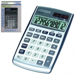 Калькулятор карманный CITIZEN CPC-112WB (120х72 мм), 12 разрядов, двойное питание