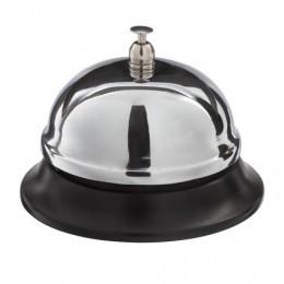 Звонок настольный для ресепшн, хромированный, диаметр 8,5 см, BRAUBERG, 454410, 5204