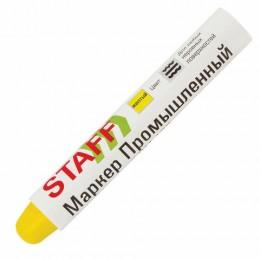 Маркер для промышленной маркировки STAFF ПМ-100 твердый, ЖЕЛТЫЙ, -20 до +40С, 150816