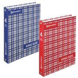 Тетрадь на кольцах А5 (175х215 мм), 240 л., обложка ламинированный картон, клетка, BRAUBERG, Шотландка, 401663