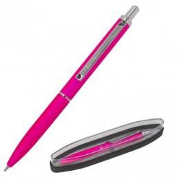 Ручка бизнес-класса шариковая BRAUBERG Bolero, СИНЯЯ, корпус розовый с хромированными деталями, линия письма 0,5 мм, 143461