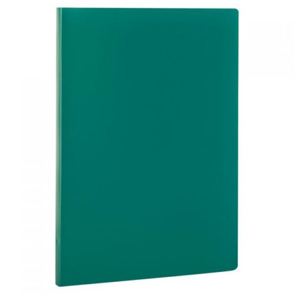 Папка с пластиковым скоросшивателем STAFF, зеленая, до 100 листов, 0,5 мм, 229228