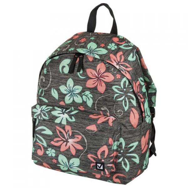 Рюкзак BRAUBERG универсальный, сити-формат, коричневый,