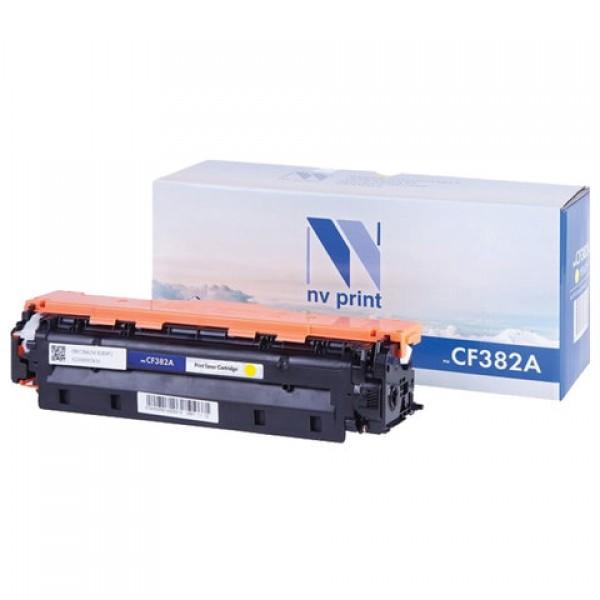 Картридж лазерный NV PRINT (NV-CF382A) для HP LJ M476dn/M476dw/M476nw, желтый, ресурс 2700 страниц