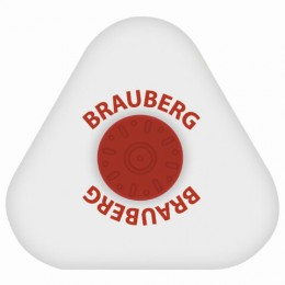 Ластик BRAUBERG Energy, 45х45х10 мм, белый, треугольный, термопластичная резина, пластиковый держатель, 222473