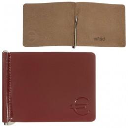 Зажим для купюр BEFLER Classic, натуральная кожа, тисненение, 105х86 мм, коньяк, Z.7.-1
