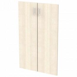 Дверь ЛДСП средняя Арго, КОМПЛЕКТ 2 шт., 355х18х1120 мм, ясень шимо, А-610