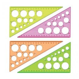 Треугольник пластиковый, угол 30, 19 см, СТАММ