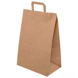 Крафт пакет бумажный 32х18х43 см, плоские ручки, плотность 70 г/м2, 606874