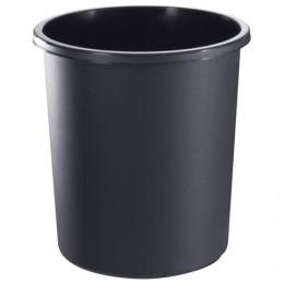 Корзина для бумаг СТАММ цельная, 18 л, черная, КР41