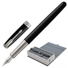 Ручка перьевая PARKER Sonnet Core Black Lacquer CT, корпус черный глянцевый лак, палладиевые детали, черная, 1948312