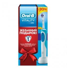 Зубная щетка электрическая ORAL-B (Орал-би) Vitality 3D White, в подарочной упаковке, 1 насадка, 81653593